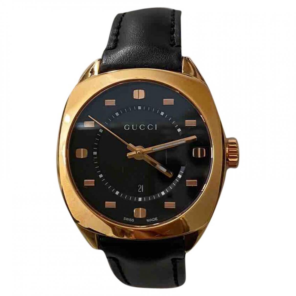 Gucci \N Black Steel watch for Men \N