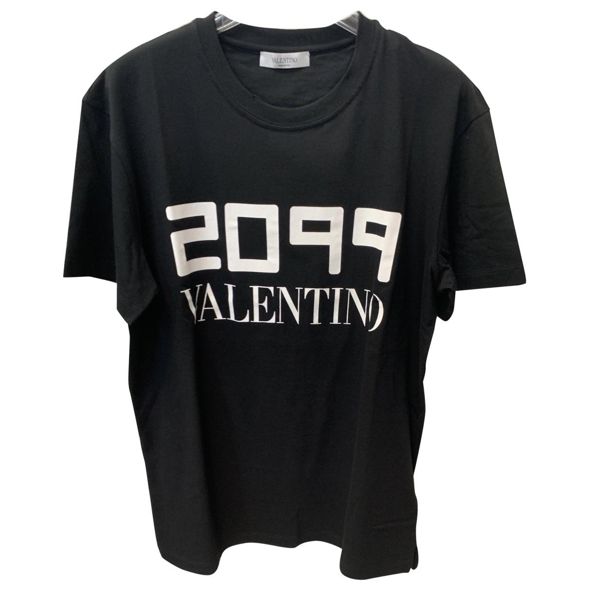 Valentino Garavani \N Black Cotton T-shirts for Men S International