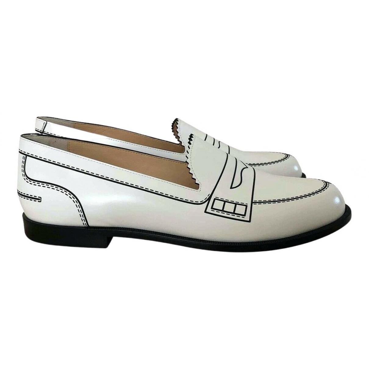 Christian Louboutin \N White Leather Flats for Women 42 EU