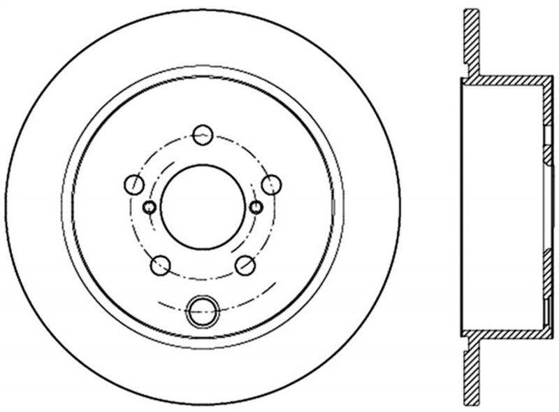 StopTech 126.47035SL Sport Slotted Brake Rotor; Rear Left Subaru Rear Left