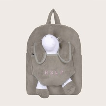 Kids Cartoon Decor Letter Embroidery Backpack
