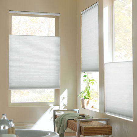 Home Expressions Top-Down/Bottom-Up Cordless Cellular Shade - FREE SWATCH, One Size , White