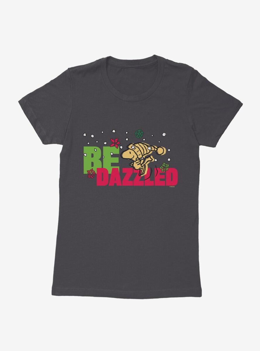Peanuts Christmas Woodstock Be Dazzled Womens T-Shirt