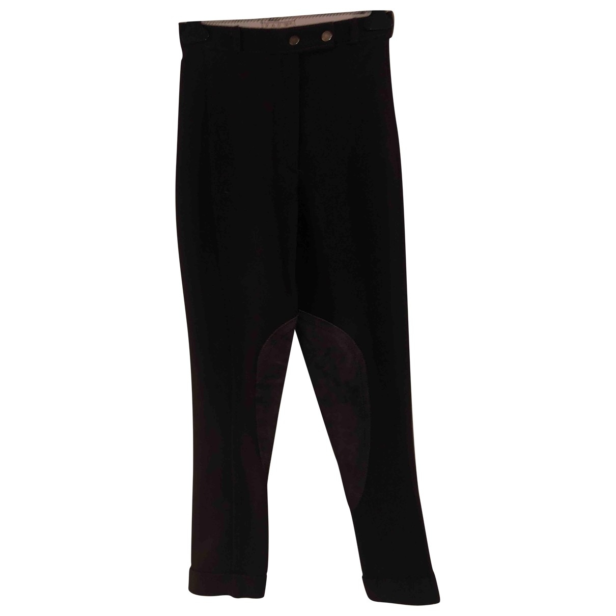 Non Signé / Unsigned \N Brown Trousers for Women M International