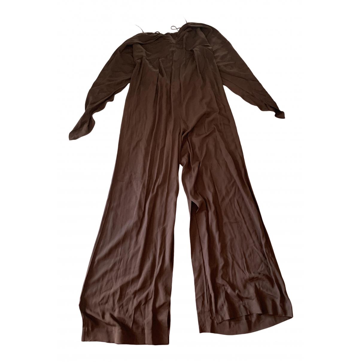 Jacquemus Le Souk Brown Cotton jumpsuit for Women 34 FR