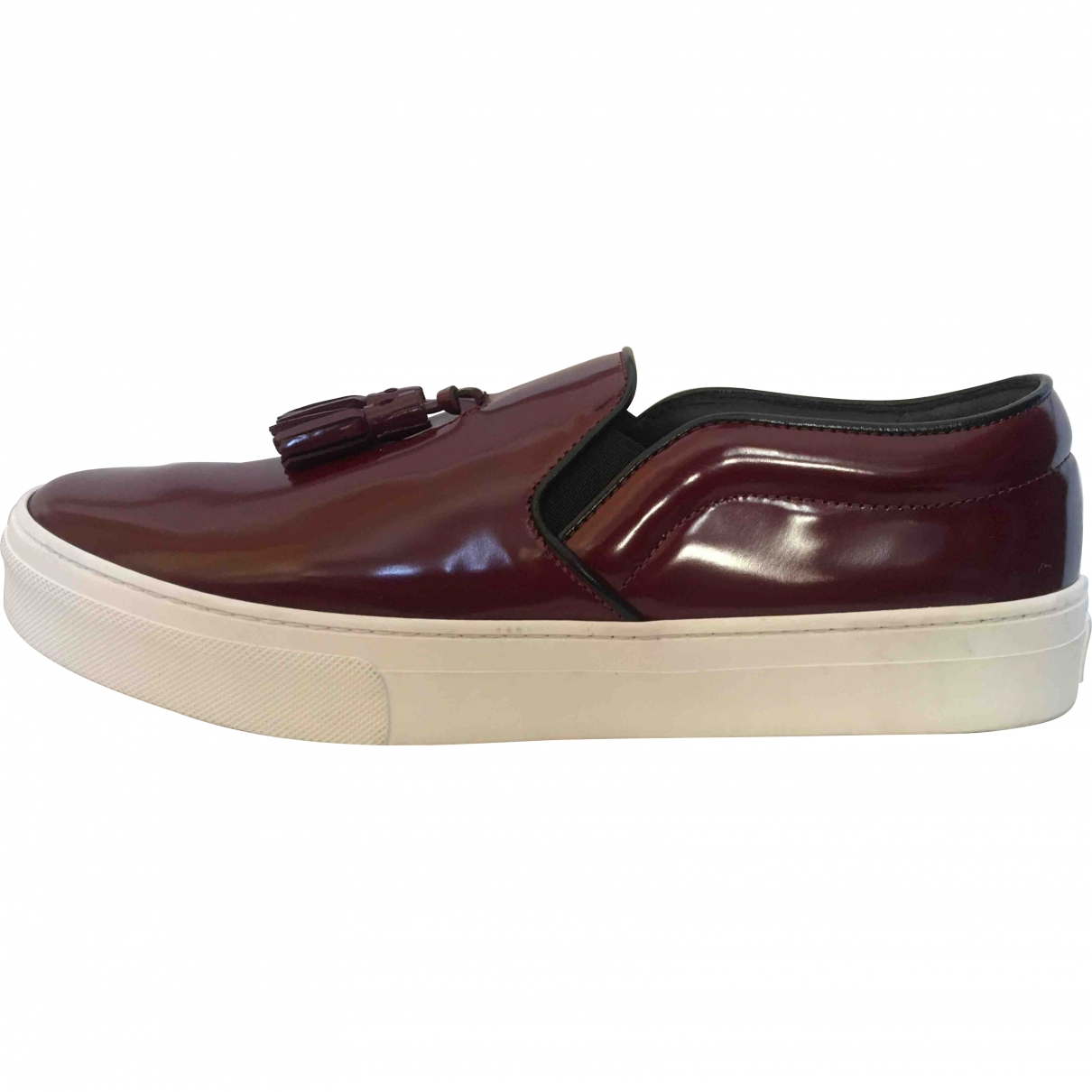 Celine \N Burgundy Patent leather Trainers for Women 40.5 EU