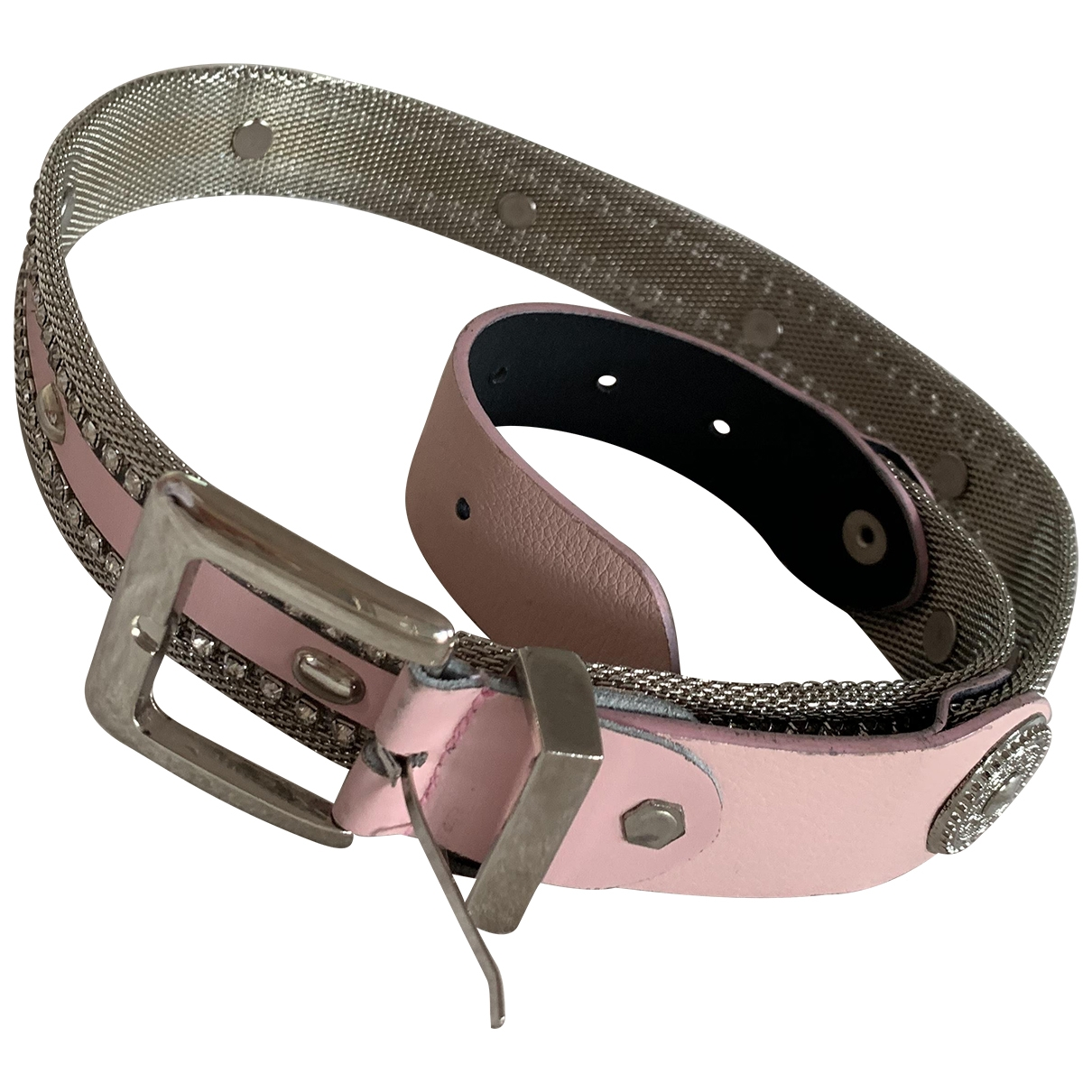 Non Signé / Unsigned \N Pink Metal belt for Women S International