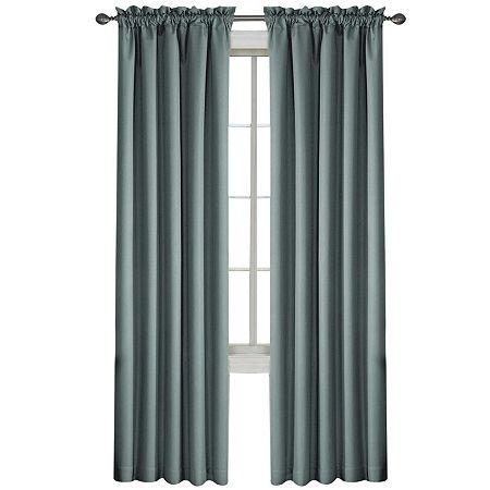 Eclipse Corinne Rod-Pocket Blackout Curtain Panel, One Size , Blue
