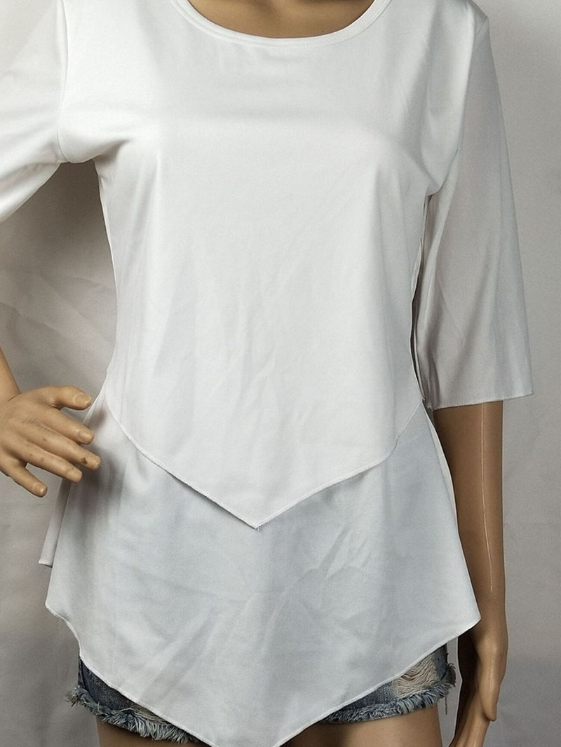 Ericdress Round Neck Plain Mid-Length Casual T-Shirt