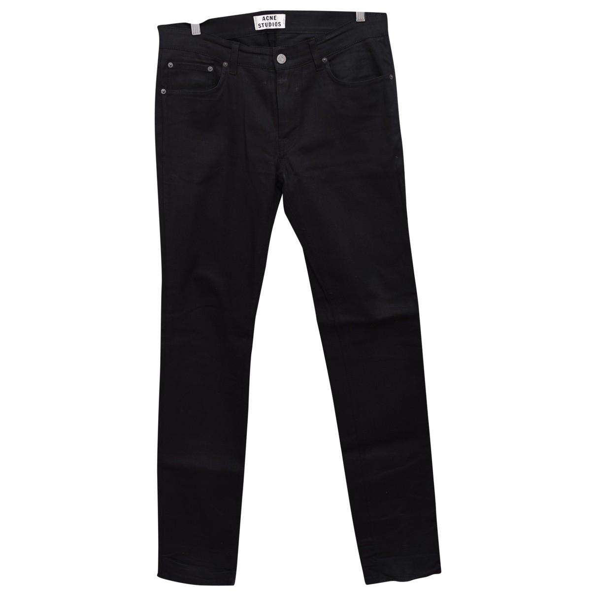 Acne Studios \N Black Cotton Jeans for Men 33 US
