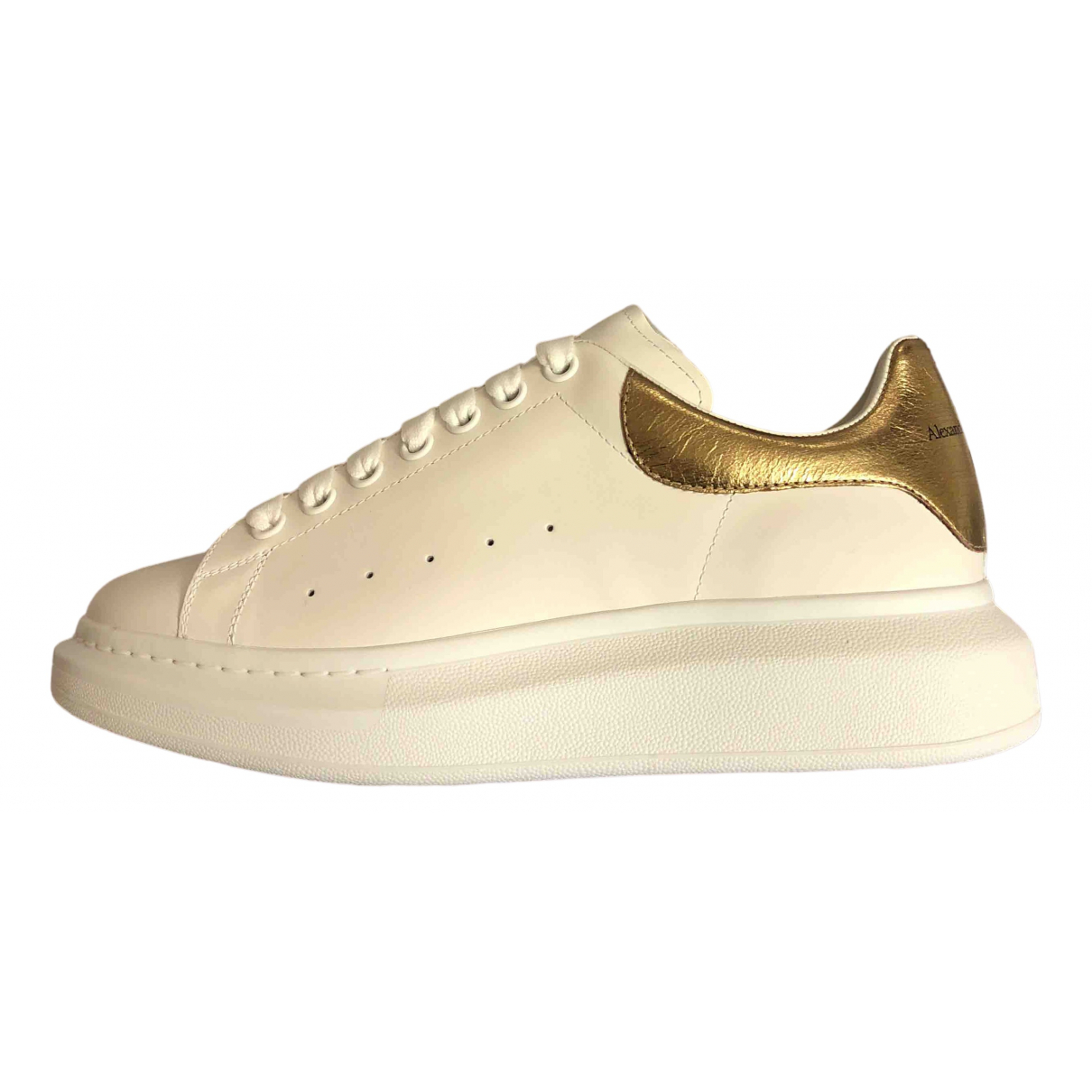 Alexander Mcqueen Oversize White Leather Trainers for Men 42.5 EU