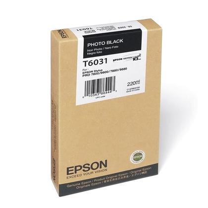 Epson T603100 Original Photo Black Ink Cartridge