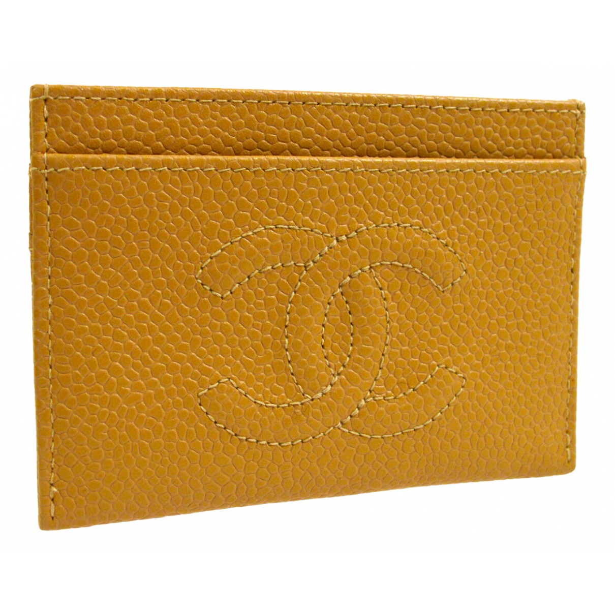 Chanel \N Yellow Leather Purses, wallet & cases for Women \N