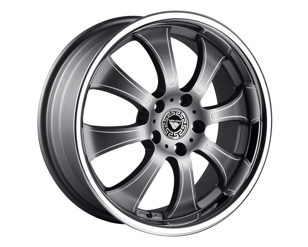 Velox Baron Gunmetal Ball Cut Machined Wheel 18x7.5 5x100 45