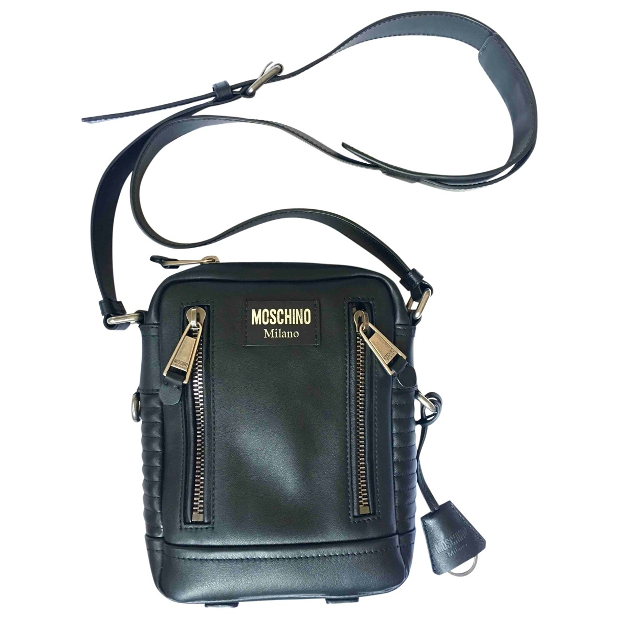 Moschino \N Black Leather bag for Men \N