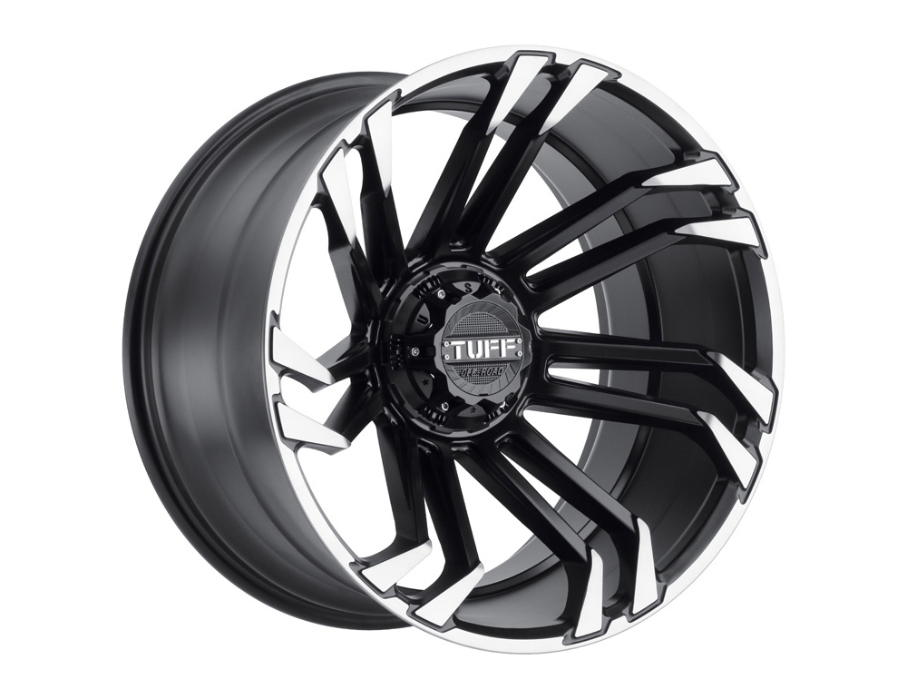 TUFF T21 Wheel 22x12 6x139.70|6x5.5 -45mm Matte Black w/ Machined Flange