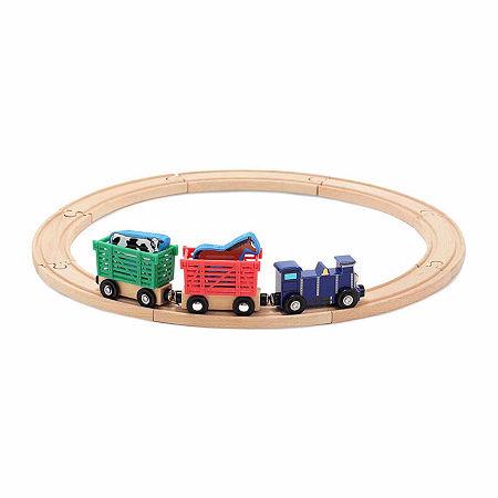 Melissa & Doug Farm Animal Train Set, One Size , Multiple Colors