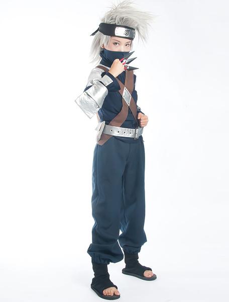 Milanoo Naruto Hatake Kakashi Halloween Cosplay Costume  Halloween