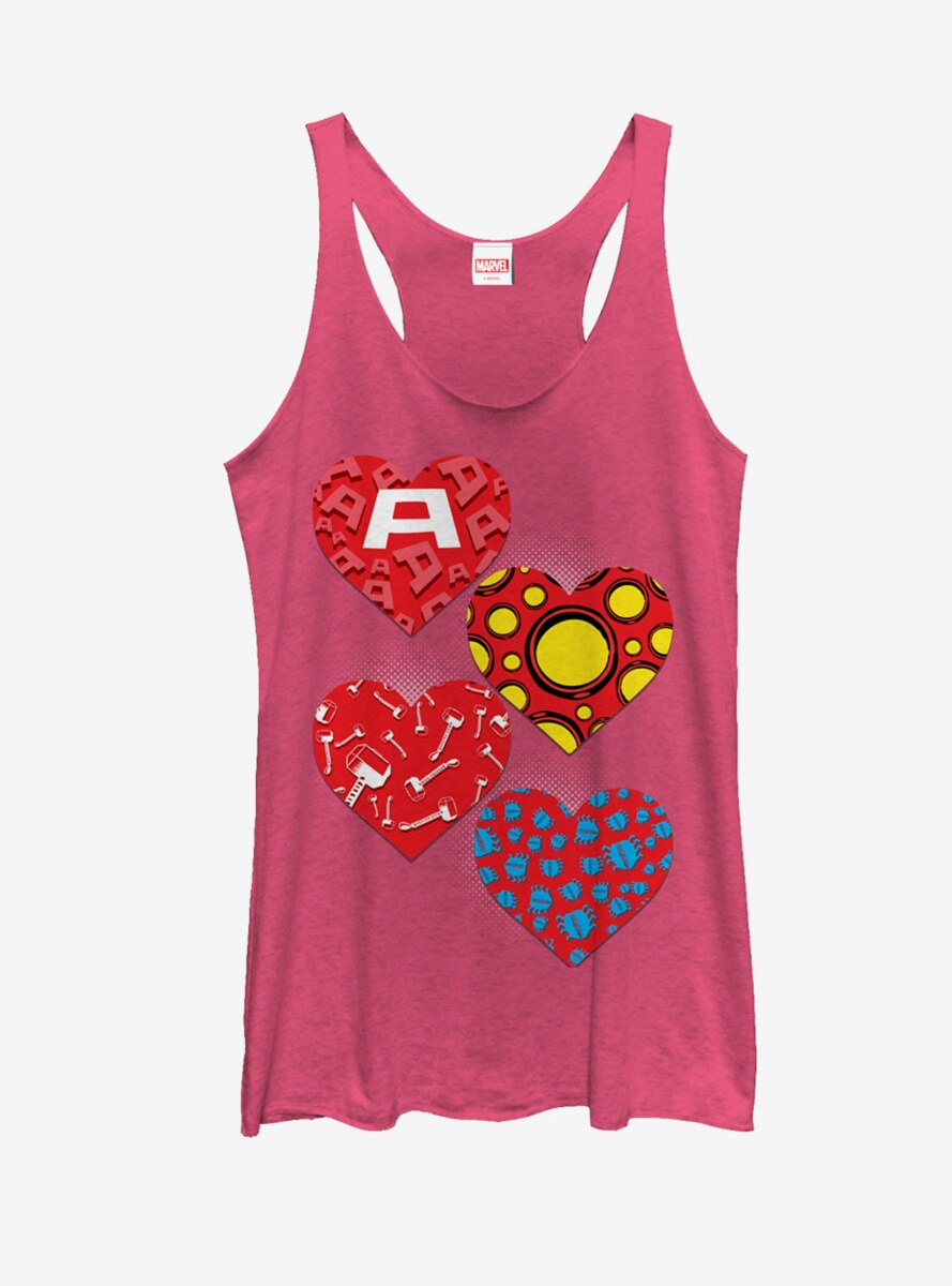 Marvel Avengers Hero Hearts Womens Tank Top