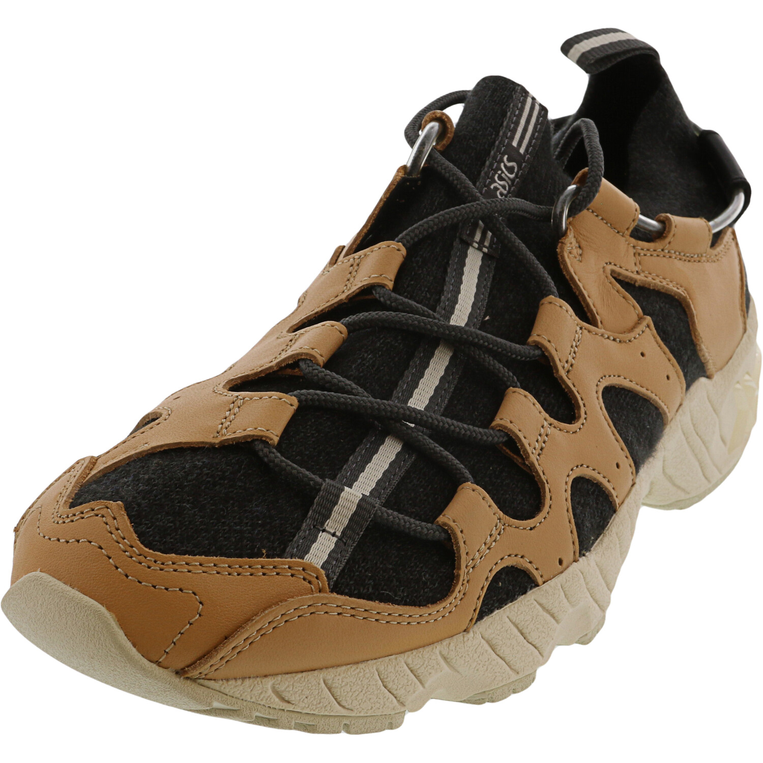 Asics Men's Gel-Mai Knit Carbon / Evening Sand Ankle-High Leather Sneaker - 10.5M