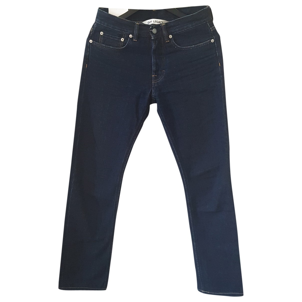 Our Legacy \N Navy Cotton Jeans for Men 29 US
