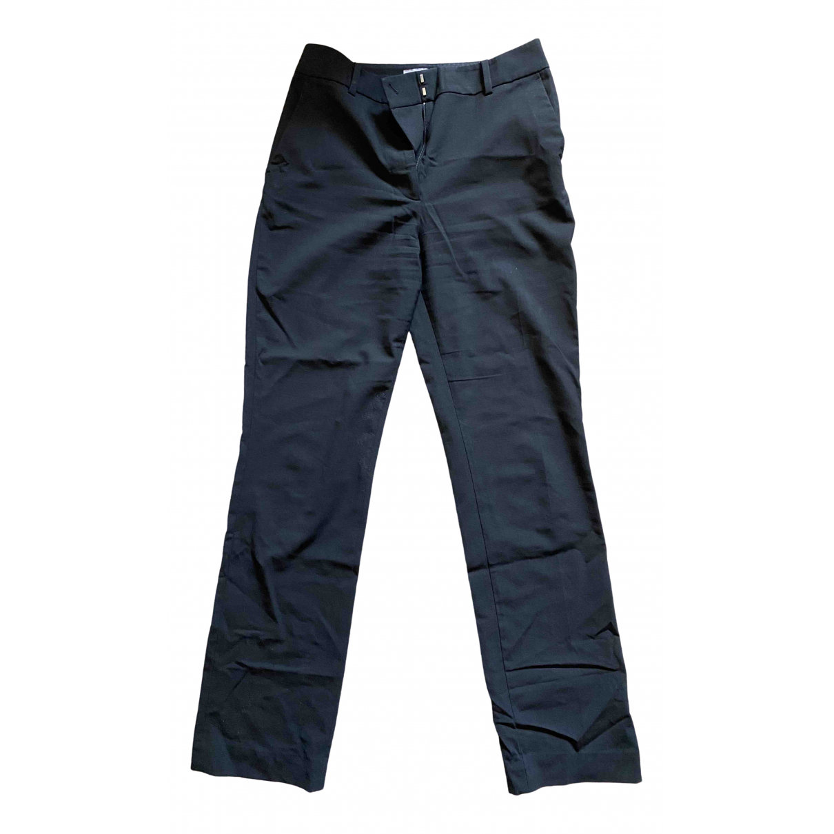& Stories \N Black Cotton Trousers for Women 34 FR