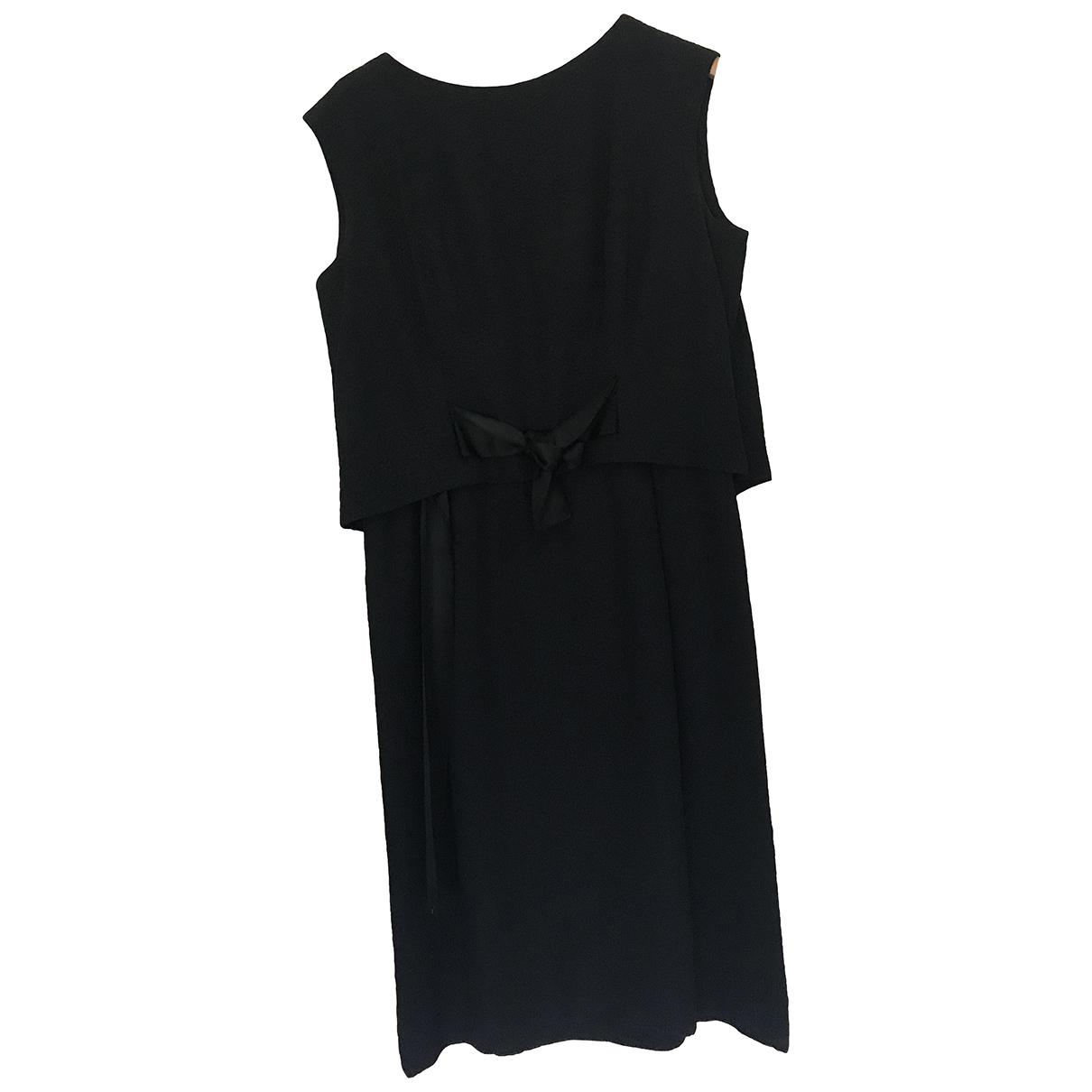 Hardy Amies \N Black Silk dress for Women 14 UK