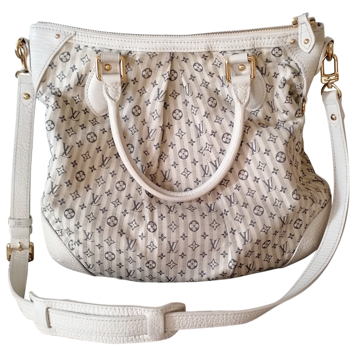 Louis Vuitton \N Beige Linen handbag for Women \N