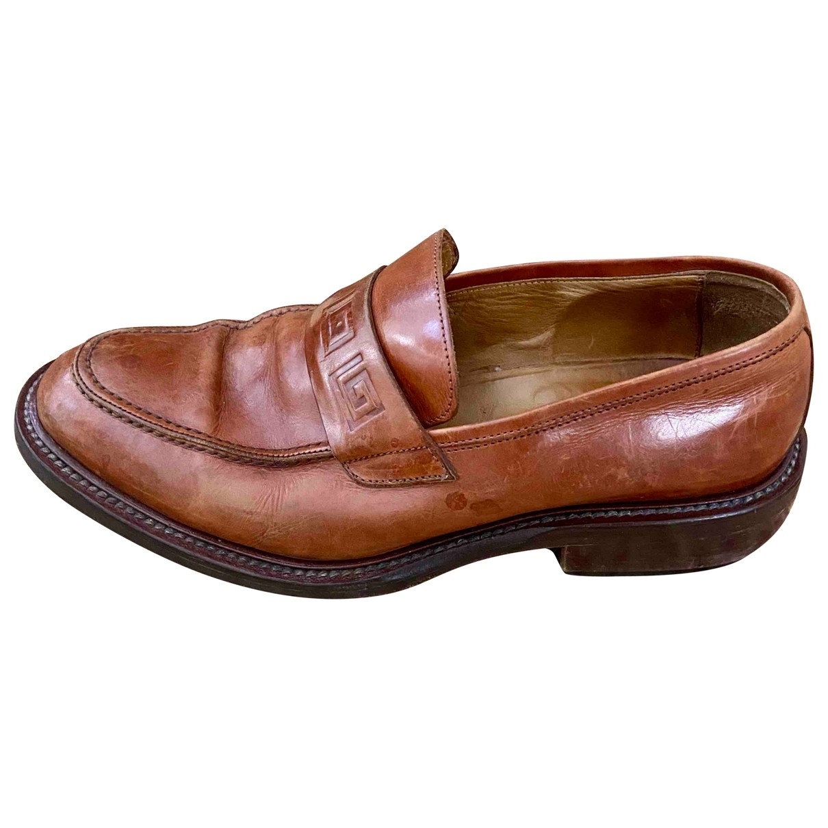Versace Jeans \N Brown Leather Flats for Men 42.5 EU