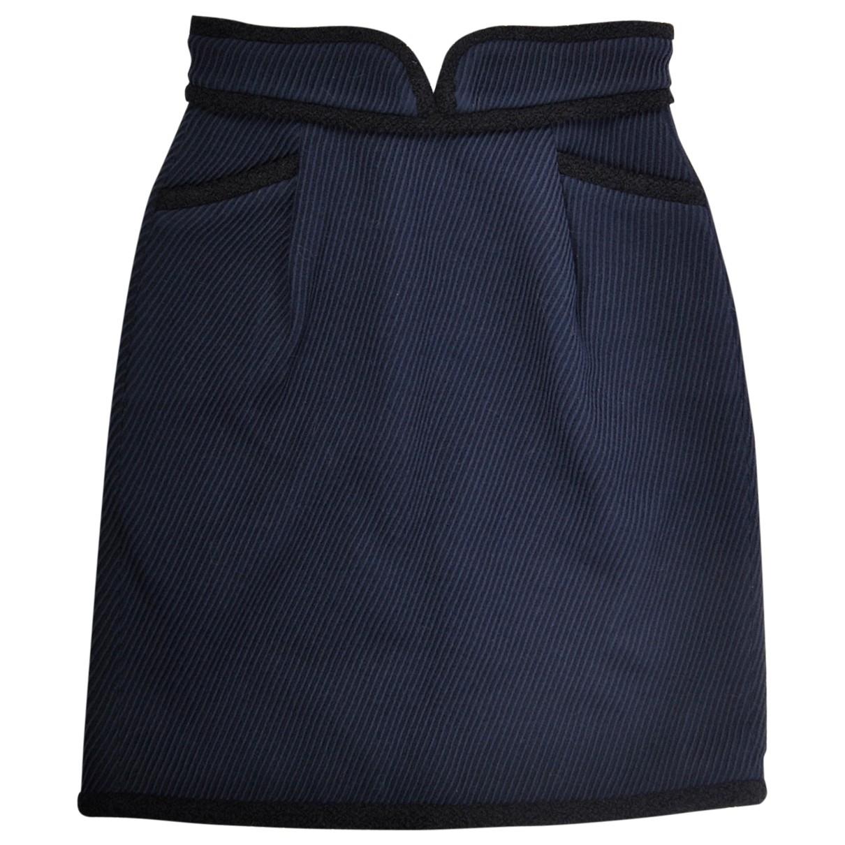 Zac Posen \N Navy Wool skirt for Women 36 FR