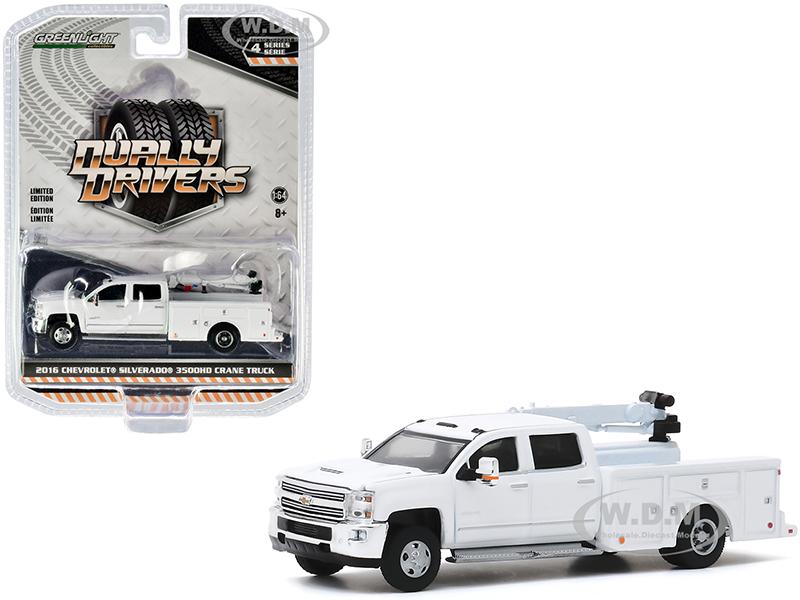 2016 Chevrolet Silverado 3500HD Dually Crane Truck White