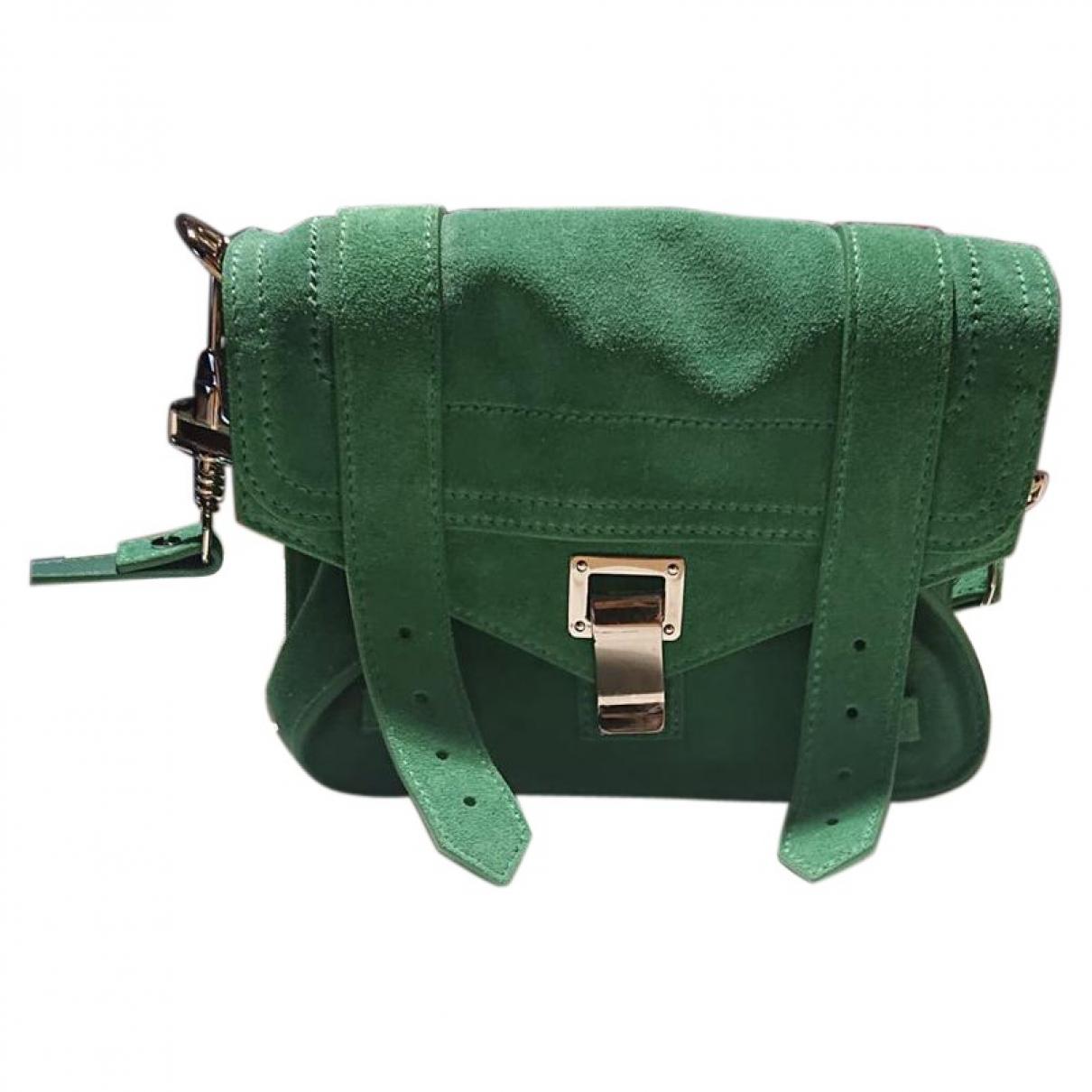 Proenza Schouler PS1 Handtasche in  Gruen Veloursleder