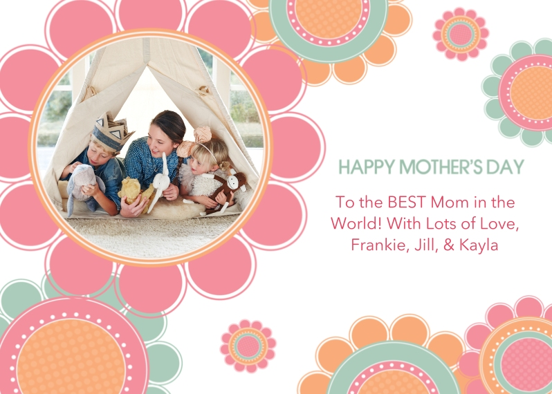 Mother's Day Cards 5x7 Folded Cards, Premium Cardstock 120lb, Card & Stationery -Bountiful Blossoms