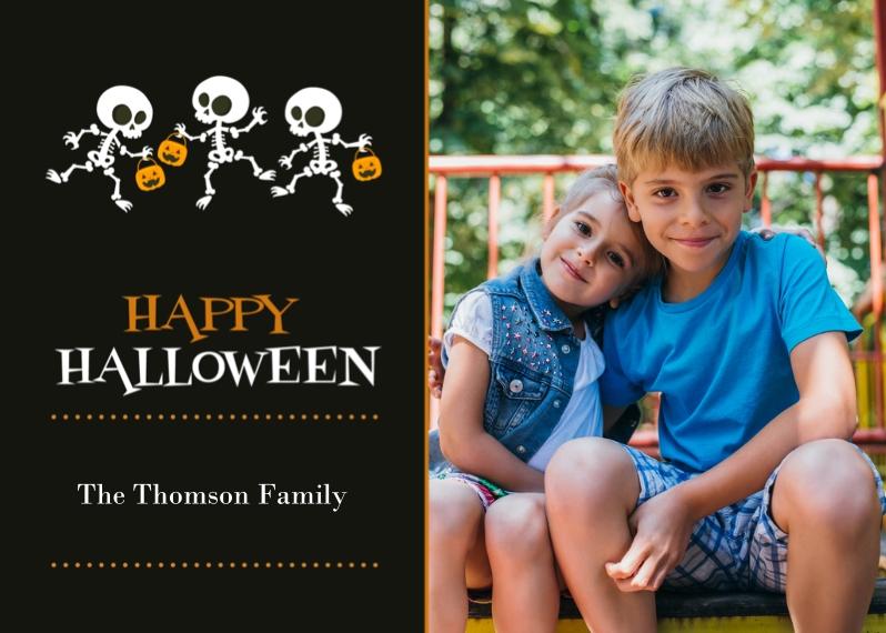 Halloween Photo Cards 5x7 Cards, Premium Cardstock 120lb, Card & Stationery -Skeleton Parade