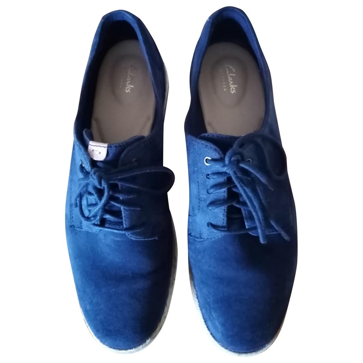 Clarks \N Blue Suede Lace ups for Women 39 EU