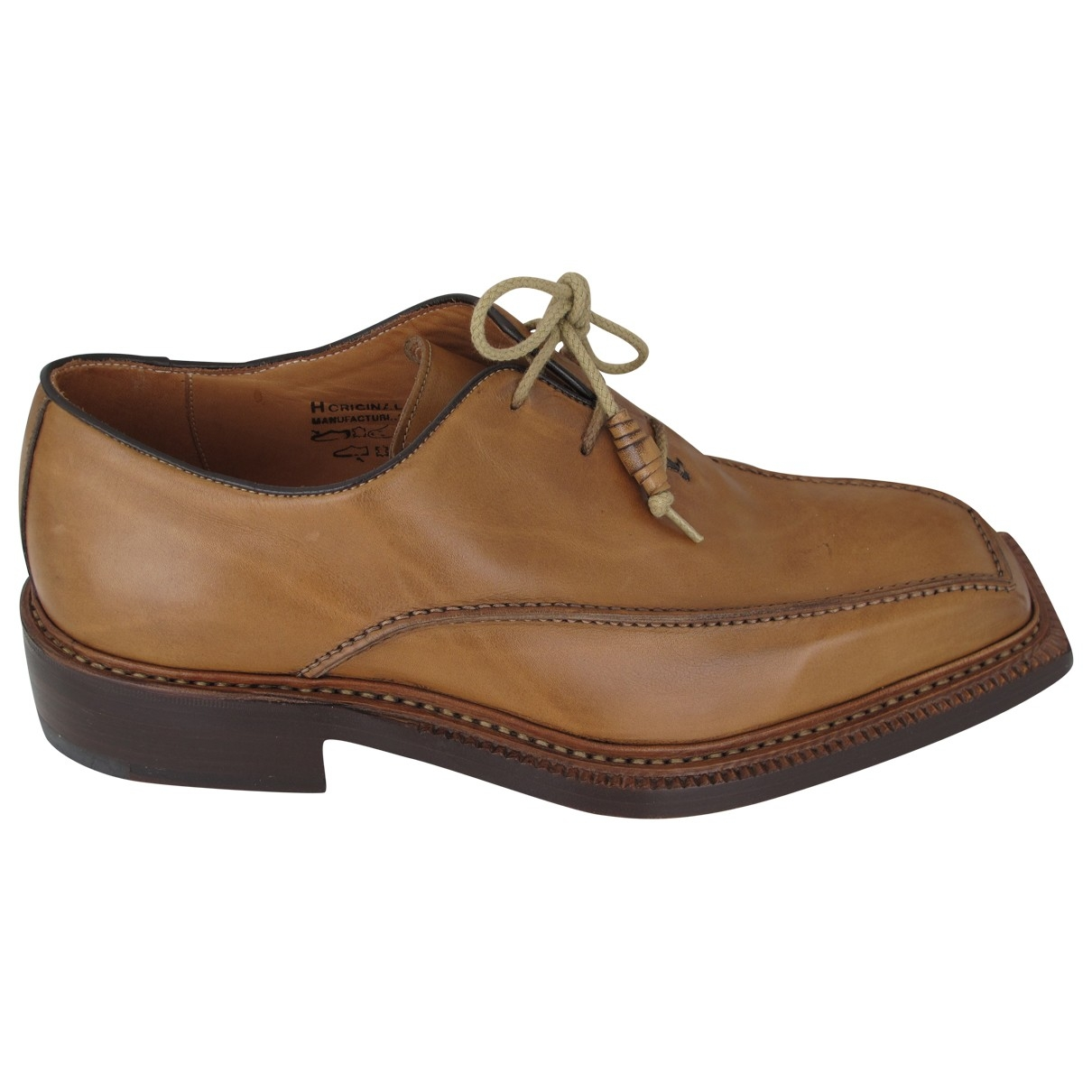 Harris \N Camel Leather Lace ups for Men 41 IT