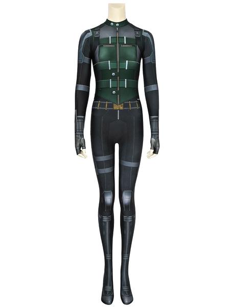Milanoo Marvel Comics Marvel Avengers Infinity War Black Widow Natasha Romanoff Zentai Jumpsuit Cosplay Costume