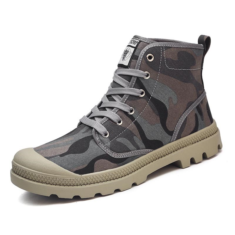 Ericdress Camouflage Lace-Up High-Cut Upper Round Toe Men's Skate Shoes