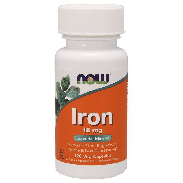 Iron Ferrochel(r) 120 Vcaps by Now Foods