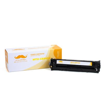 Compatible HP 125A CB542A Yellow Toner Cartridge - Moustache - 1/Pack