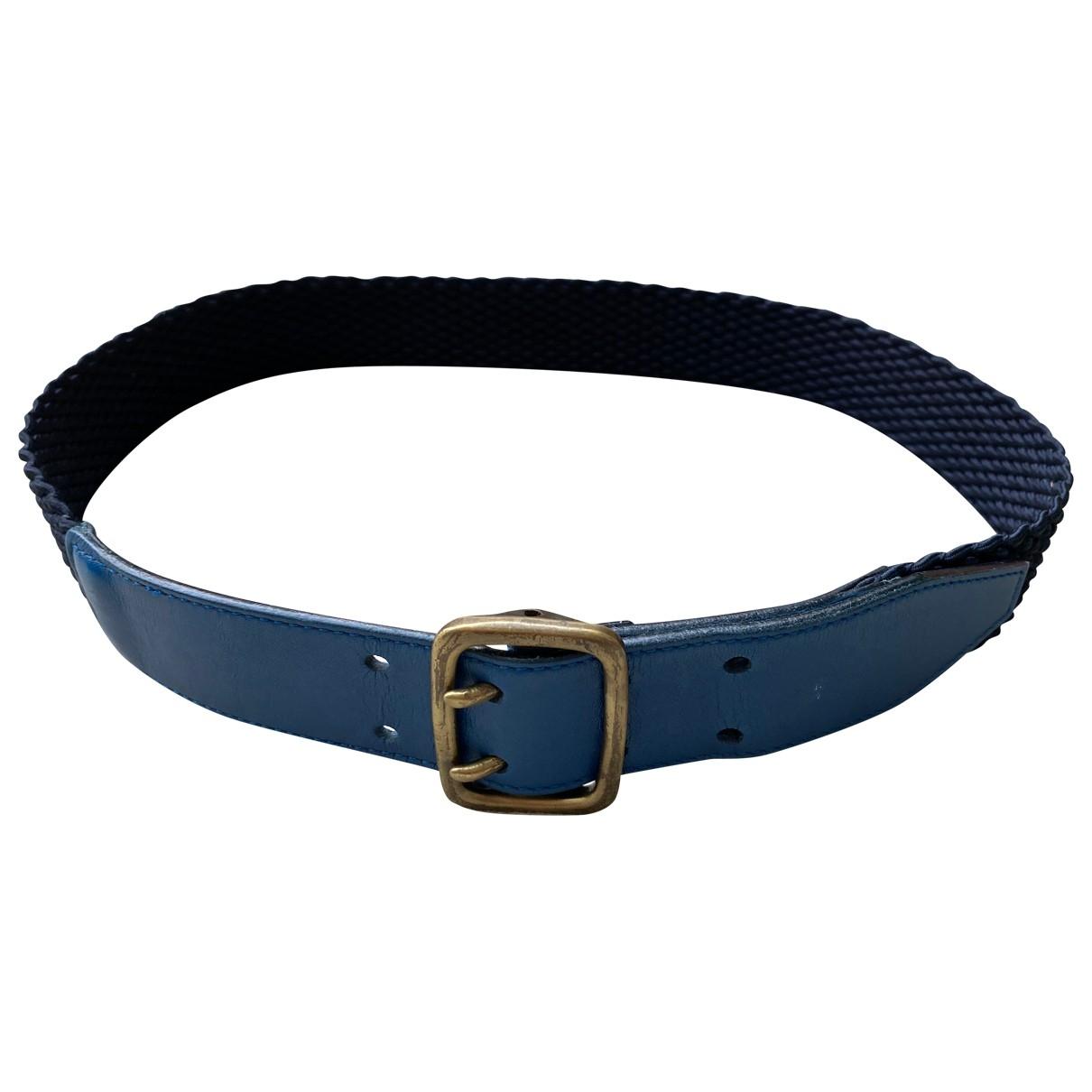 Trussardi \N Blue Leather belt for Men 85 cm
