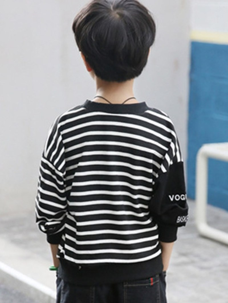 Ericdress Stripped Loose Scoop Boy's Casual Hoodies