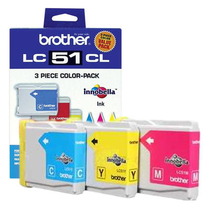 Brother MFC-5860CN Original Colour Ink Cartridges C/M/Y Combo, 3 pack