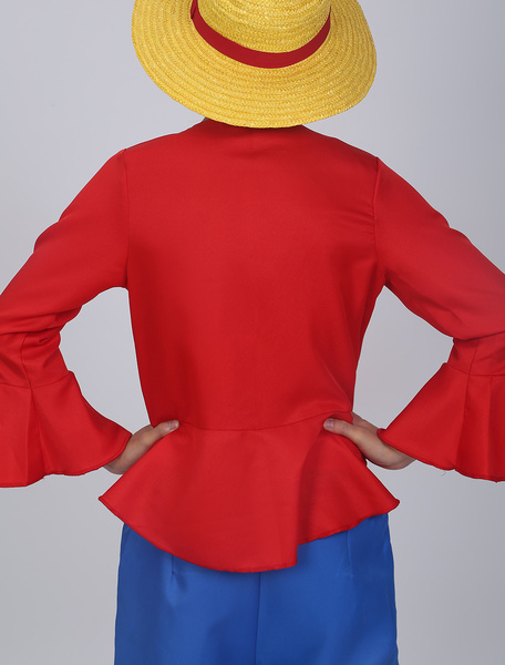 Milanoo One Piece Luffy Cosplay Costume Halloween