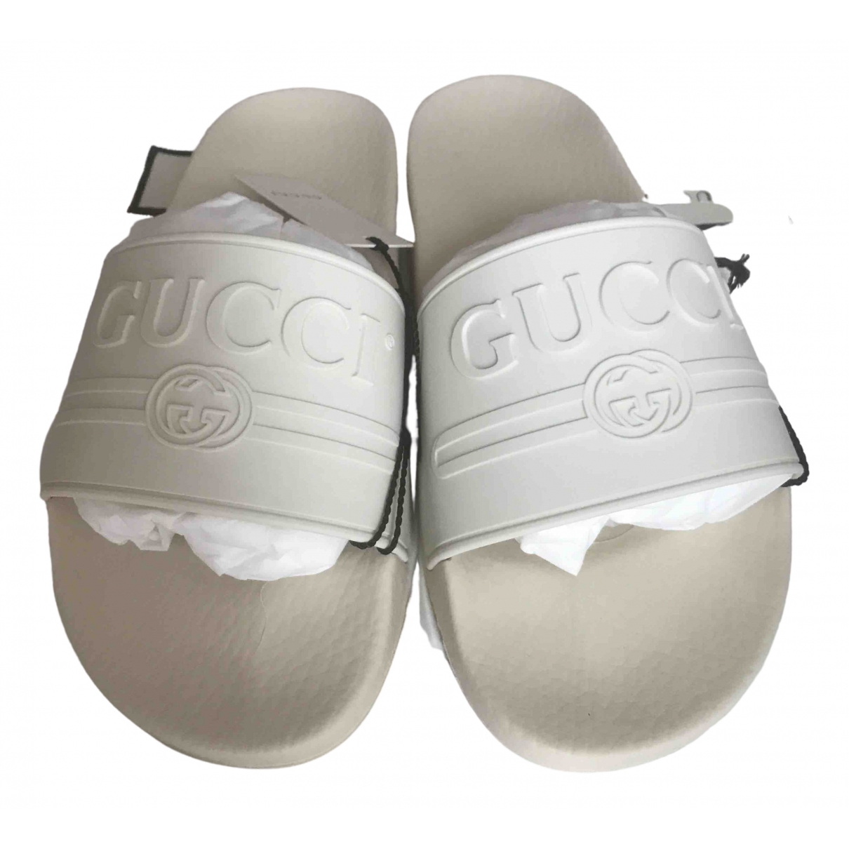 Gucci \N White Rubber Sandals for Men 6 US