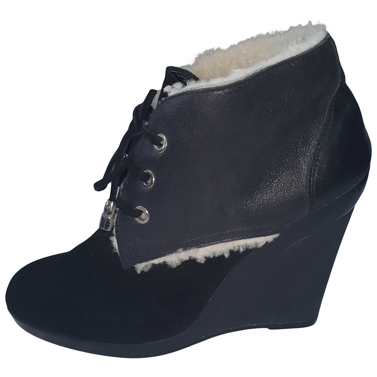 Hogan \N Black Leather Ankle boots for Women 39 EU
