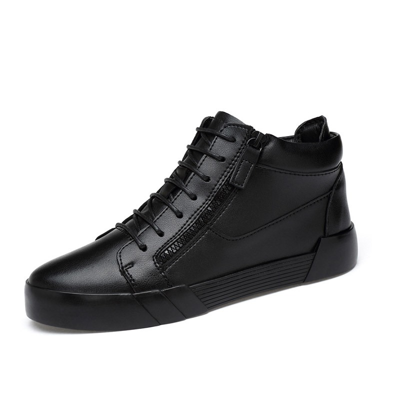 Ericdress Zipper Plain Hidden Elevator Heel Men's Skater Shoes