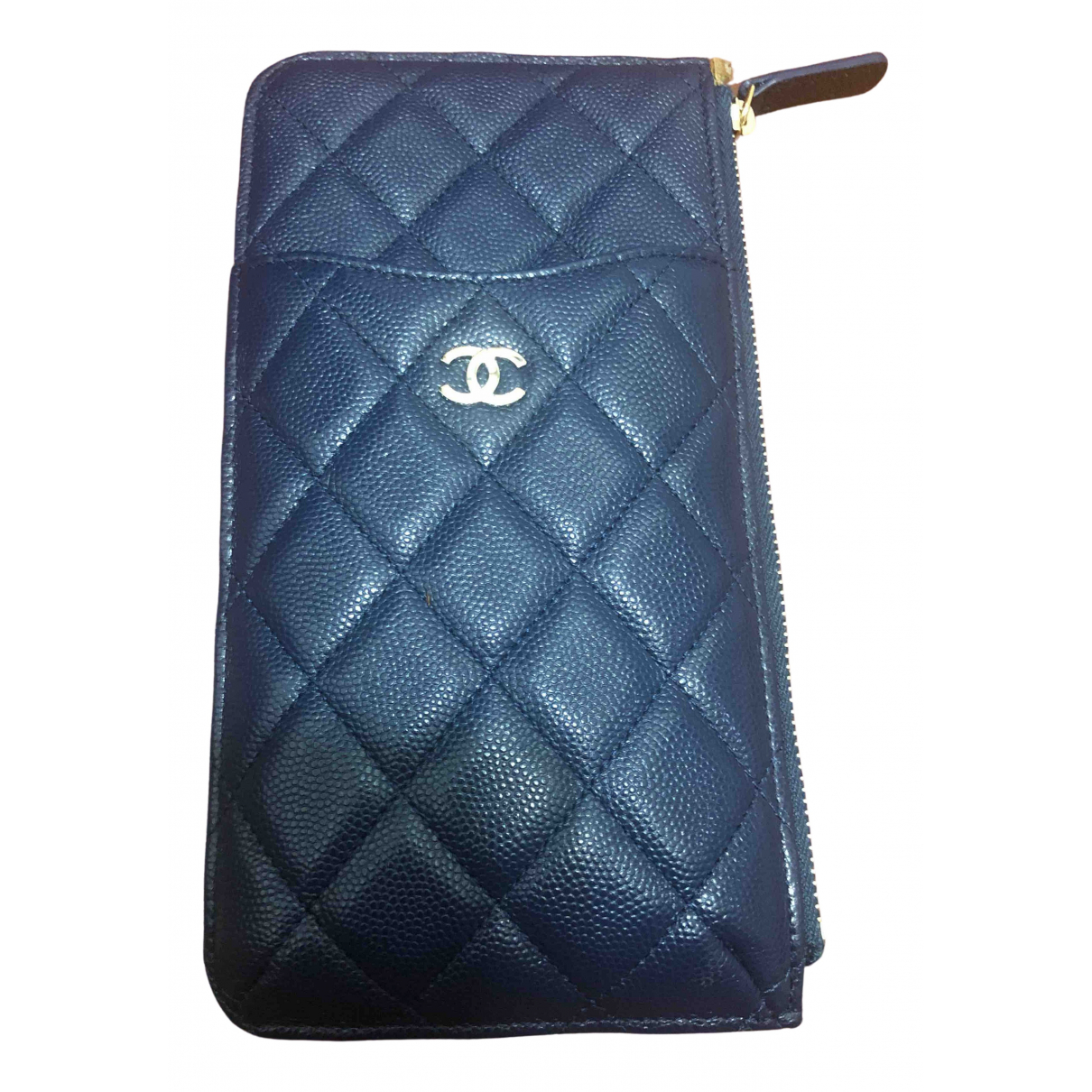 Chanel Timeless/Classique Navy Leather Purses, wallet & cases for Women \N