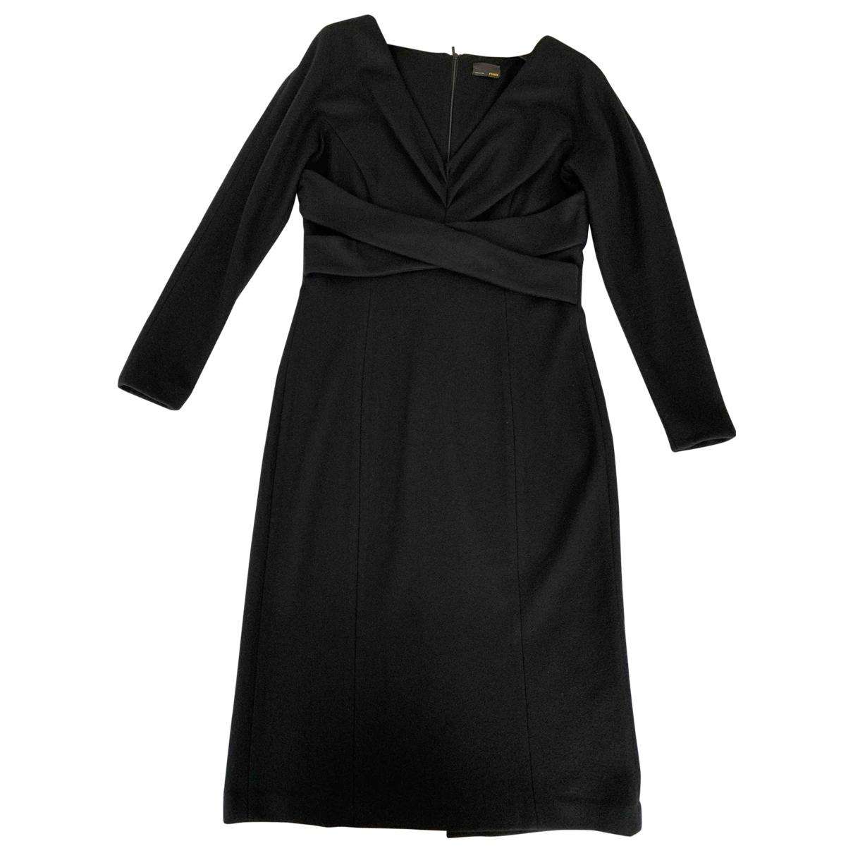 Fendi \N Black Wool dress for Women 46 IT
