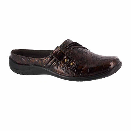 Easy Street Womens Holly Slip-On Shoe, 6 Extra Wide, Brown